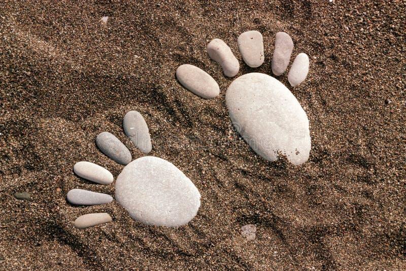 Βήματα από τις πέτρες θάλασσας στοκ φωτογραφία