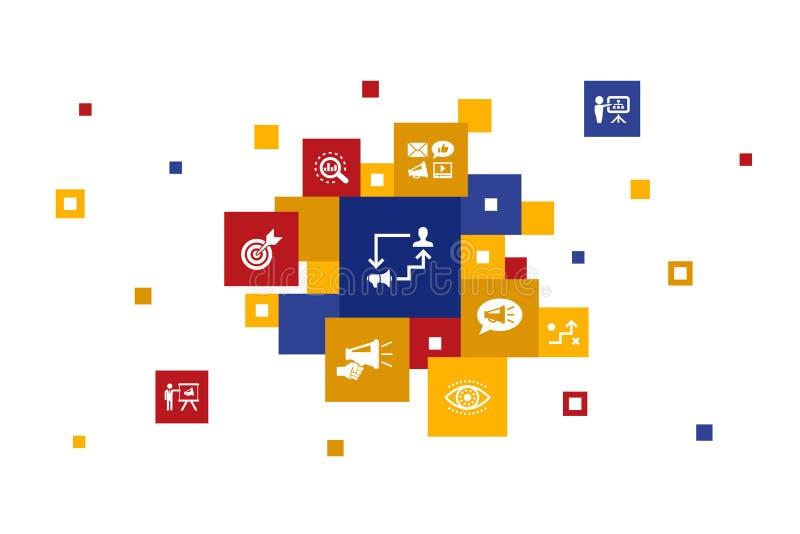 10 βήματα για το μάρκετινγκ συνεργατών διανυσματική απεικόνιση