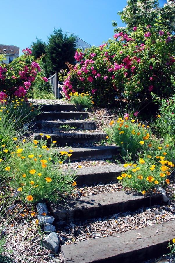 βήματα κήπων στοκ εικόνες με δικαίωμα ελεύθερης χρήσης