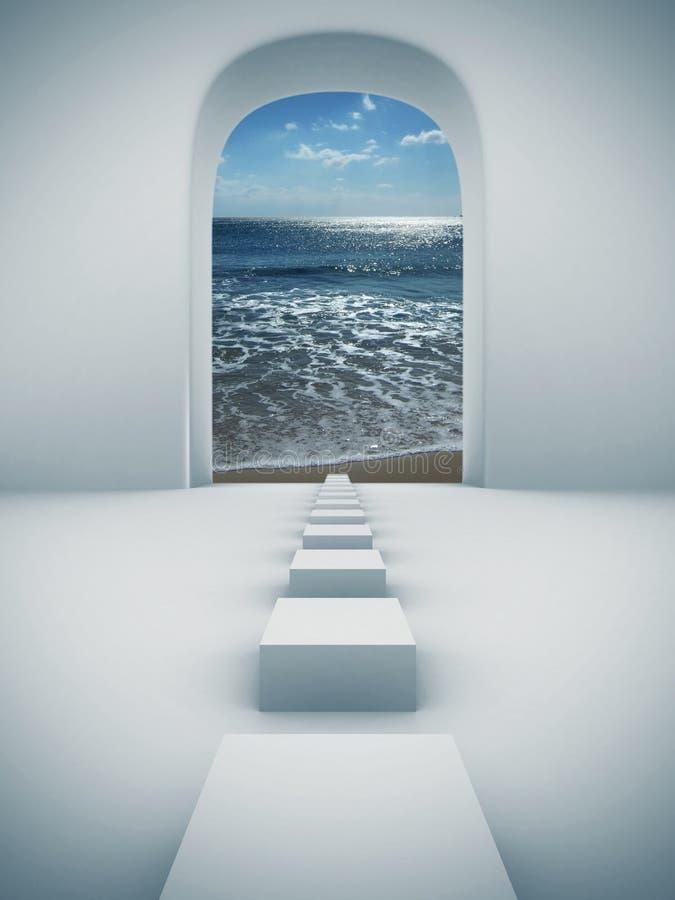 βήματα παραδείσου διανυσματική απεικόνιση