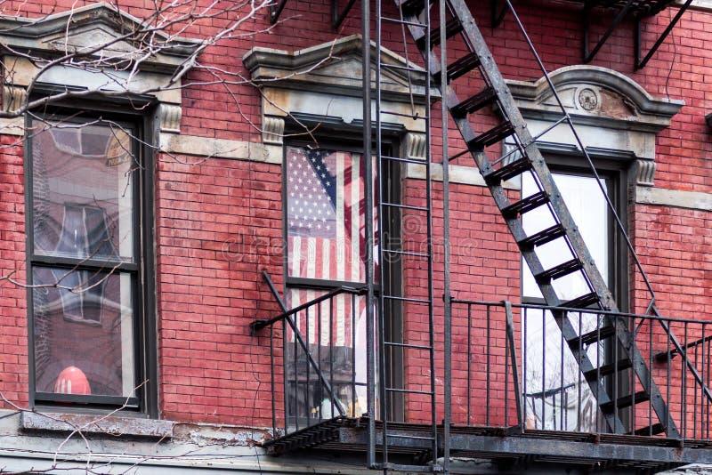 Βήματα πυρκαγιάς στη Νέα Υόρκη στοκ εικόνες