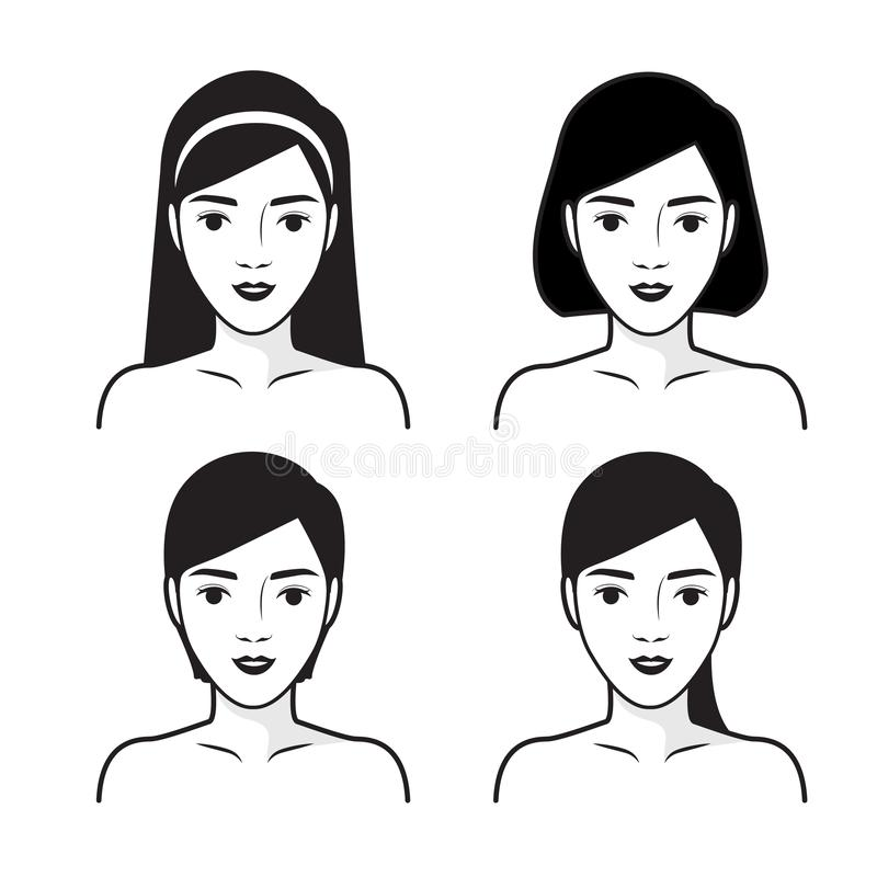 Βήματα πώς στην του προσώπου προσοχή r διανυσματική απεικόνιση