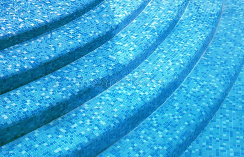Βήματα στην πισίνα θερέτρου στοκ εικόνα με δικαίωμα ελεύθερης χρήσης