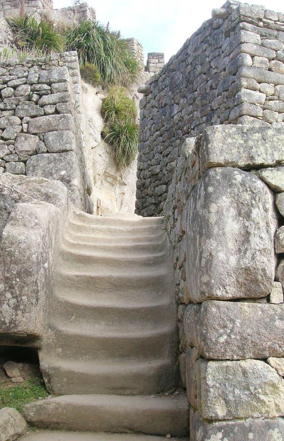 βήματα picchu machu στοκ εικόνες