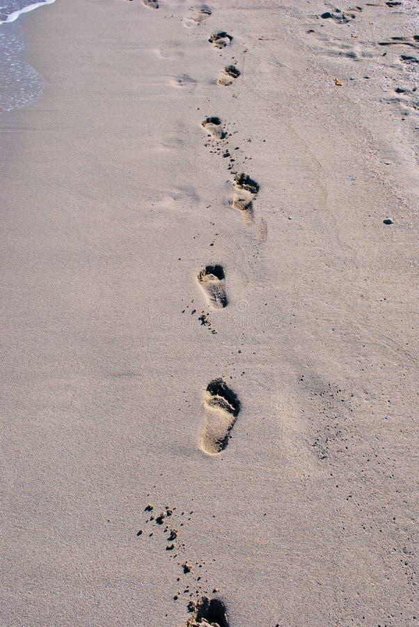 βήμα άμμου σημαδιών στοκ εικόνες με δικαίωμα ελεύθερης χρήσης