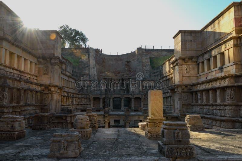 Βήμα καλά σε Patan, Ινδία, περιοχή παγκόσμιων κληρονομιών της ΟΥΝΕΣΚΟ στοκ εικόνα
