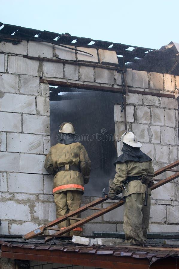 βήμα σκαλών πυροσβεστών στοκ φωτογραφία