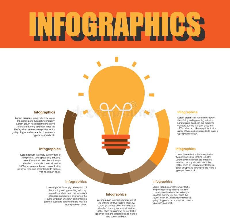 Βήμα Infographics διαδικασίας στοκ φωτογραφίες