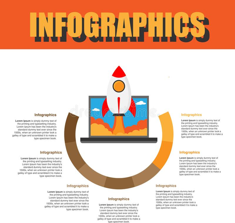 Βήμα Infographics διαδικασίας στοκ εικόνες με δικαίωμα ελεύθερης χρήσης