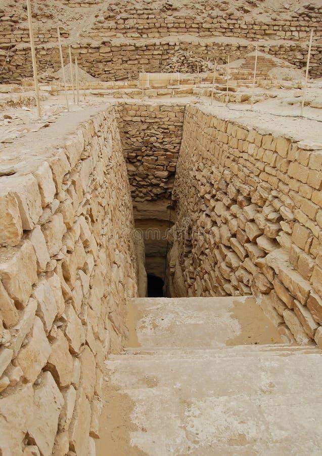 βήμα saqqara πυραμίδων της Αιγύπτου στοκ φωτογραφία