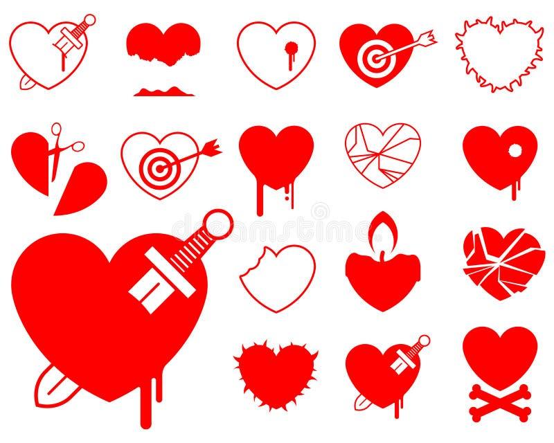 βία εικονιδίων καρδιών συ ελεύθερη απεικόνιση δικαιώματος
