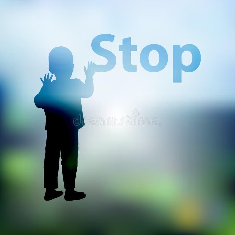 Βία παιδιών στάσεων ήπια ΛΟΓΟΤΥΠΟ απεικόνιση αποθεμάτων