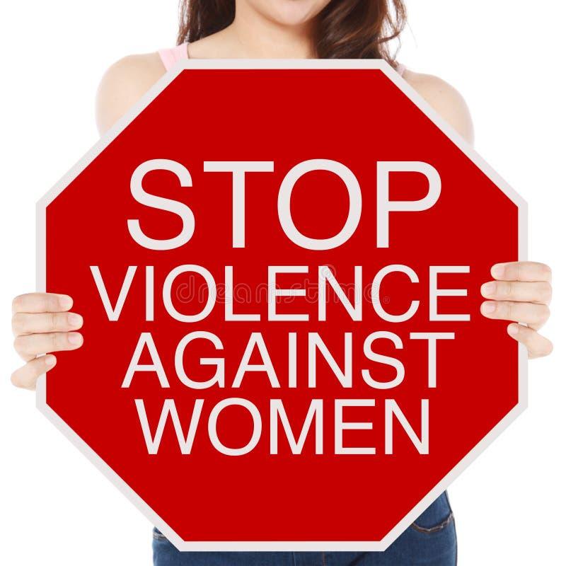Βία στάσεων κατά των γυναικών στοκ φωτογραφία
