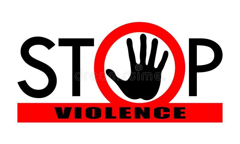 Βία στάσεων συμβόλων ή σημαδιών διανυσματική απεικόνιση