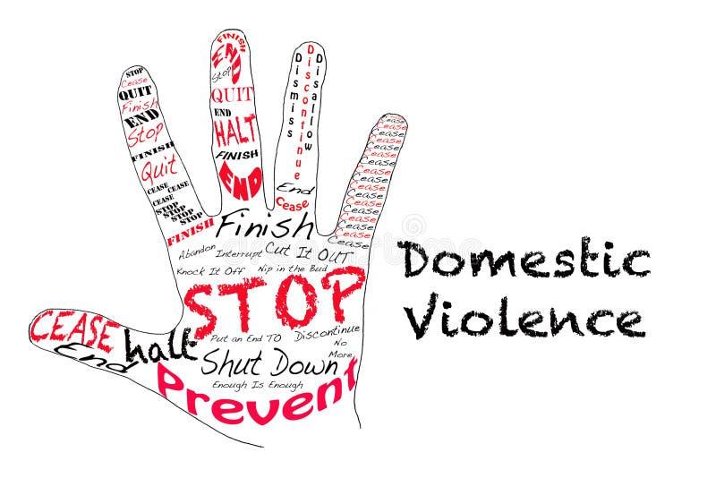 βία στο σπίτι στάσεων ελεύθερη απεικόνιση δικαιώματος