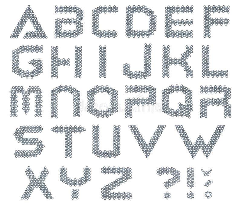 βίδα αλφάβητου διανυσματική απεικόνιση