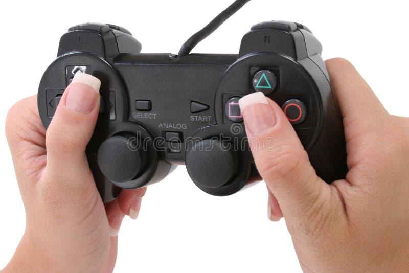 βίντεο παιχνιδιών ελεγκ&tau στοκ φωτογραφίες