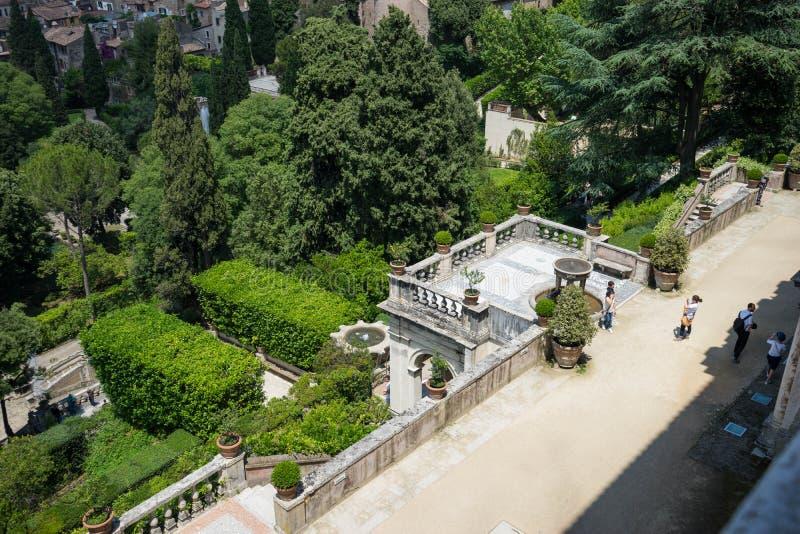 Βίλα δ ` Este σε Tivoli, Ιταλία, Ευρώπη στοκ φωτογραφία