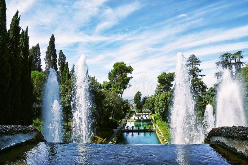 Βίλα δ ` Este, Tivoli, στην Ιταλία στοκ εικόνα με δικαίωμα ελεύθερης χρήσης