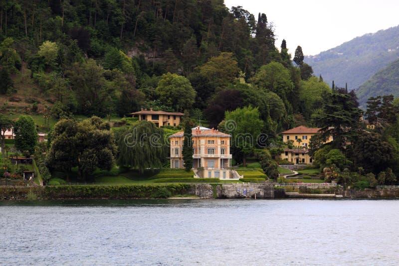 Βίλες Como λιμνών στοκ φωτογραφίες