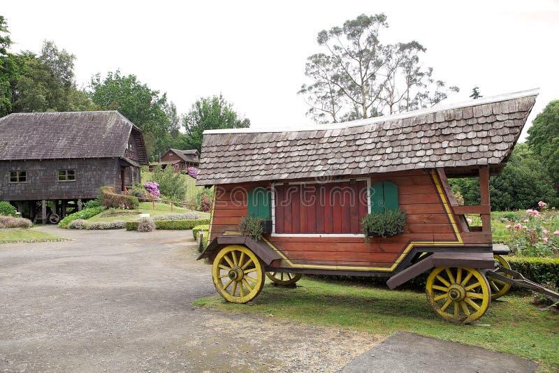 Βαγόνι εμπορευμάτων στο γερμανικό μουσείο σε Frutillar, Χιλή στοκ φωτογραφία με δικαίωμα ελεύθερης χρήσης