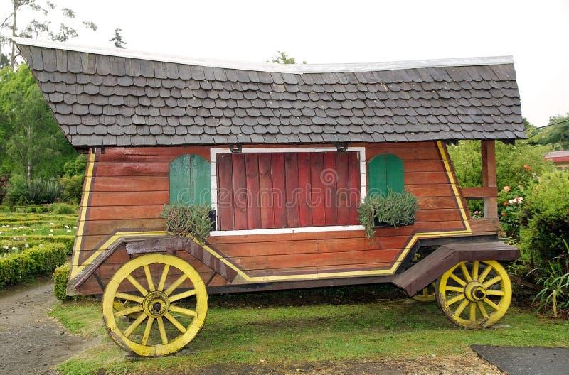 Βαγόνι εμπορευμάτων στο γερμανικό μουσείο σε Frutillar, Χιλή στοκ εικόνες