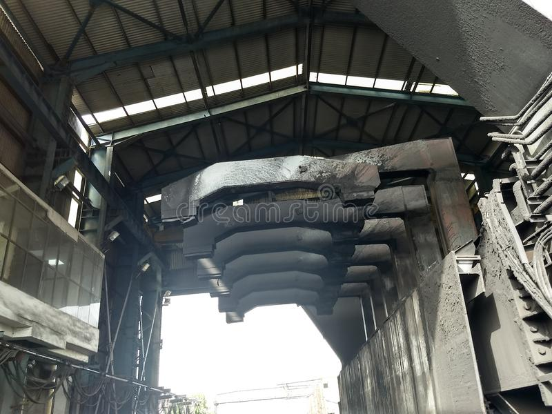 Βαγόνι εμπορευμάτων Tripler που χρησιμοποιείται στις εγκαταστάσεις θερμικής παραγωγής ενέργειας στοκ εικόνα με δικαίωμα ελεύθερης χρήσης