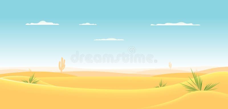 βαθιά έρημος δυτική διανυσματική απεικόνιση