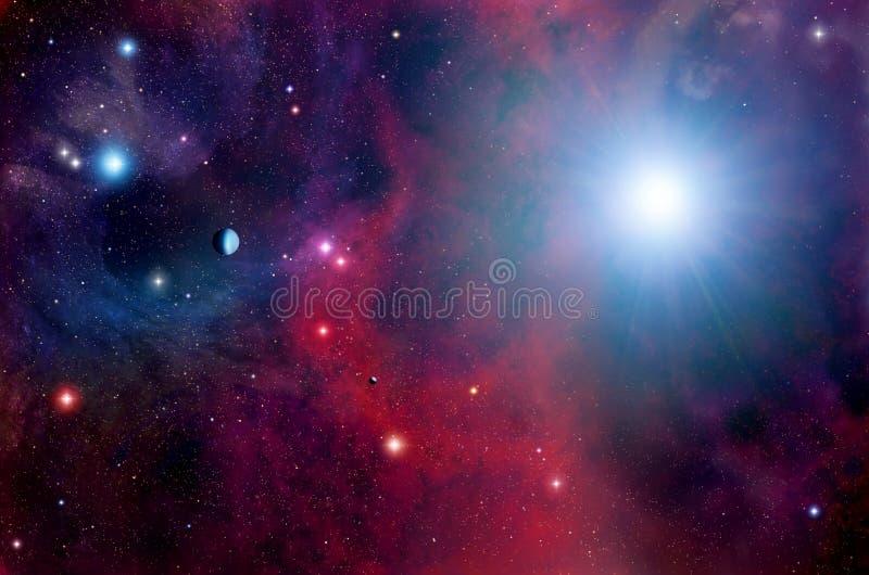 Βαθιά διαστημική ανασκόπηση ελεύθερη απεικόνιση δικαιώματος