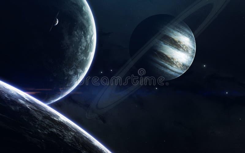 Βαθιά διαστημική ομορφιά, πλανήτες, αστέρια και γαλαξίες στον ατελείωτο κόσμο Στοιχεία αυτής της εικόνας που εφοδιάζεται από τη N στοκ εικόνες με δικαίωμα ελεύθερης χρήσης