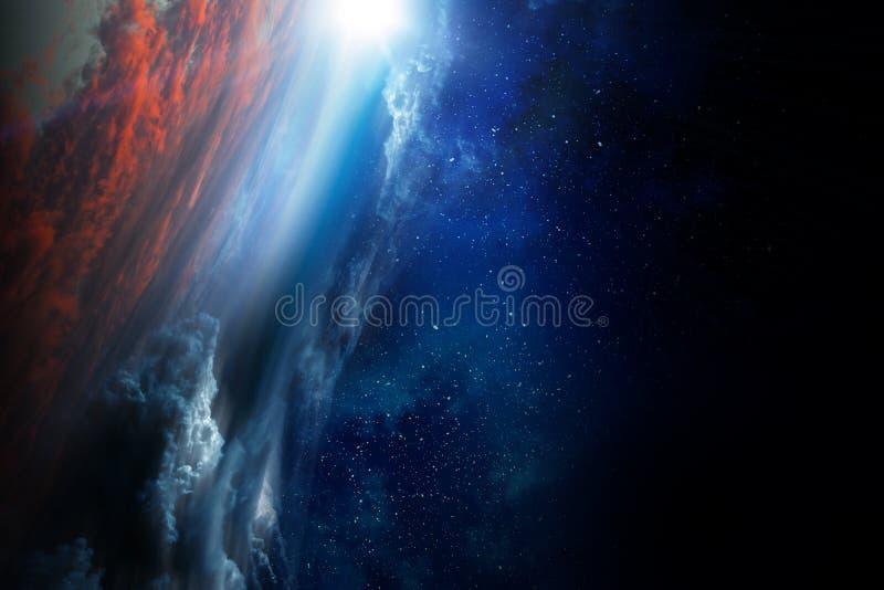 Βαθιά διαστημική ομορφιά Τροχιά πλανητών στοκ φωτογραφίες με δικαίωμα ελεύθερης χρήσης