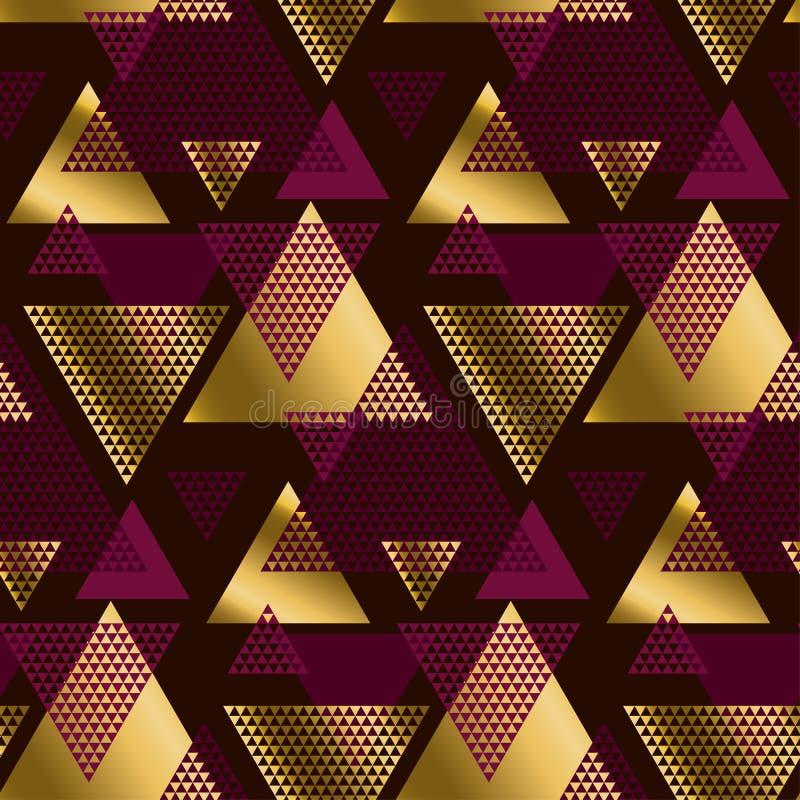 Βαθιά - διακοσμητικό άνευ ραφής σχέδιο κόκκινου χρώματος απεικόνιση αποθεμάτων