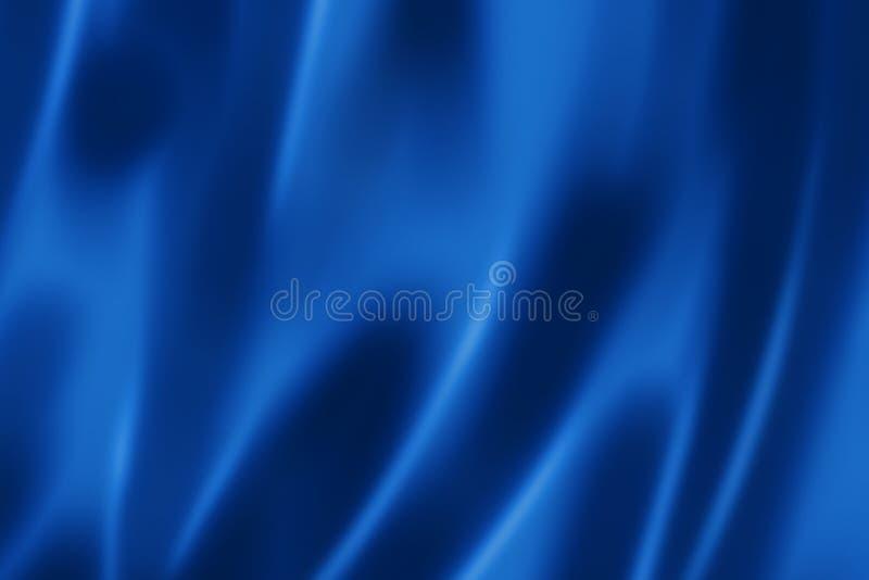 Βαθιά μπλε σύσταση σατέν ελεύθερη απεικόνιση δικαιώματος