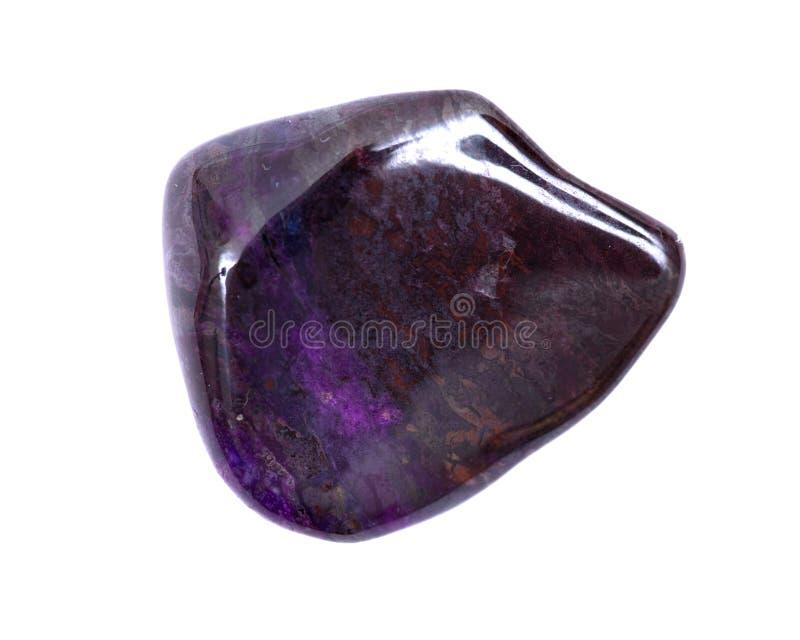Βαθιά - πορφυρό μαγγάνιο με πεφμένη τη sugilite πέτρα από τη Νότια Αφρική στοκ φωτογραφίες με δικαίωμα ελεύθερης χρήσης