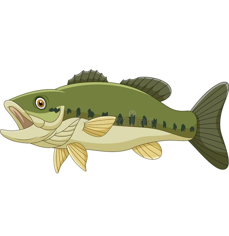 Βαθιά ψάρια κινούμενων σχεδίων που απομονώνονται στο άσπρο υπόβαθρο διανυσματική απεικόνιση