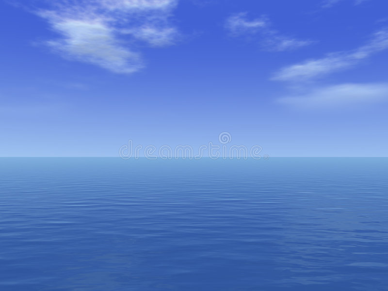 βαθιά ωκεάνια θάλασσα απέραντη διανυσματική απεικόνιση