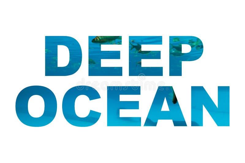 Βαθιά ωκεάνια λέξη ελεύθερη απεικόνιση δικαιώματος