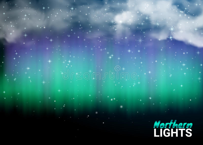 Βαθιοί μαγικός μυθικός ουρανού νύχτας σκοτεινός με τα σύννεφα και ρεαλιστικός ελεύθερη απεικόνιση δικαιώματος