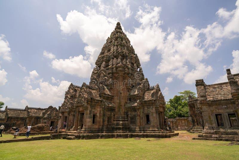 Βαθμίδα Prasat hin phanom στην επαρχία Ταϊλάνδη κριού Buri στοκ εικόνες