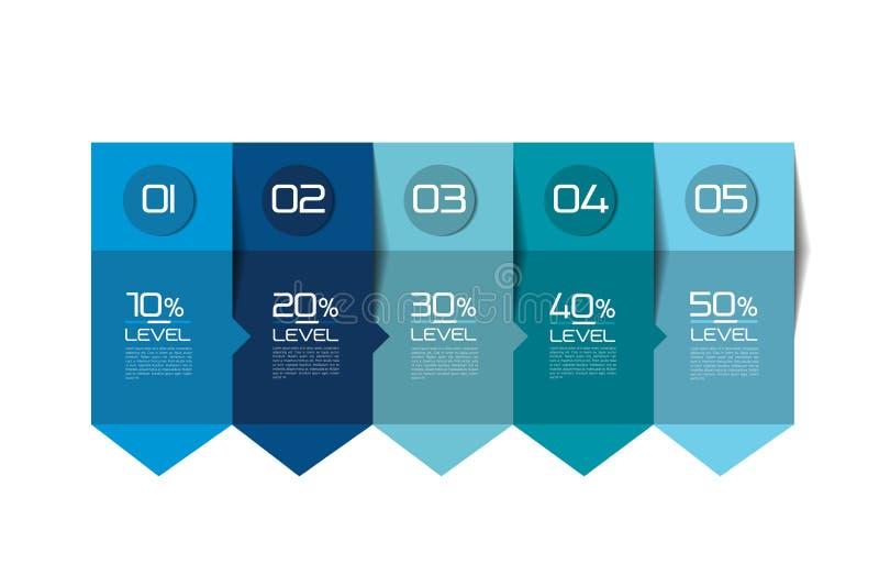 Βαθμιαία πρότυπο Βέλος Infographic Πίνακας, πρόγραμμα απεικόνιση αποθεμάτων