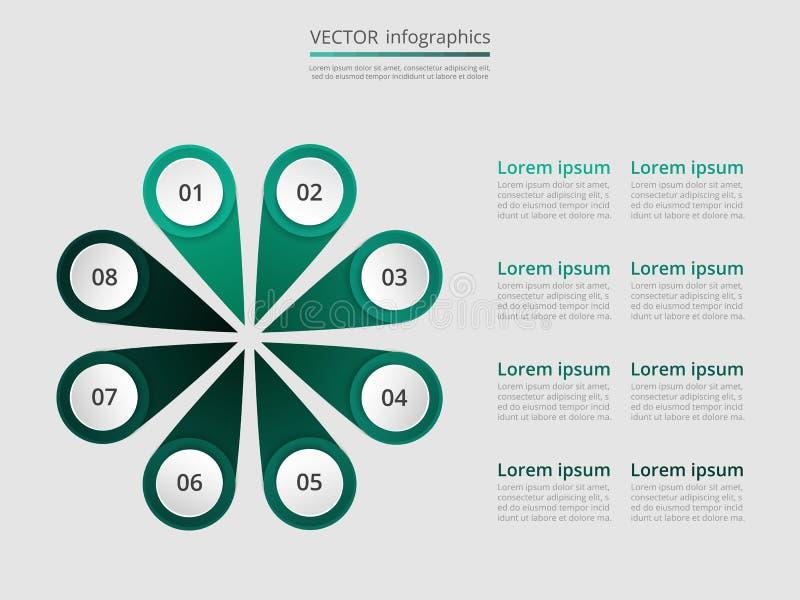 Βαθμιαία infographic διανυσματική απεικόνιση