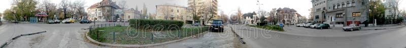 Βαθμοί πανοράματος του Βουκουρεστι'ου τετραγωνικοί 360 στοκ φωτογραφία