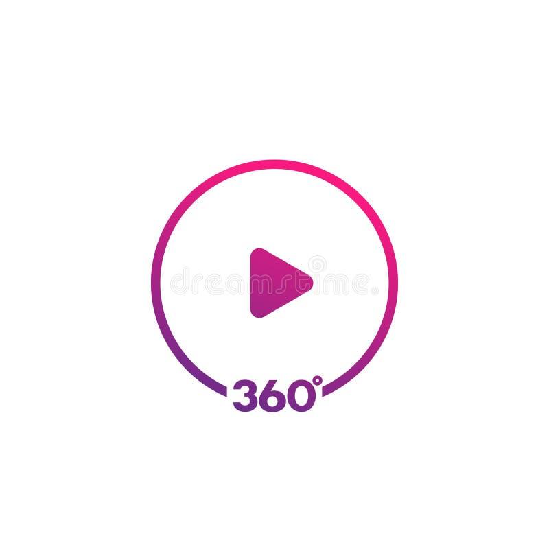 360 βαθμοί τηλεοπτικών εικονιδίων ελεύθερη απεικόνιση δικαιώματος