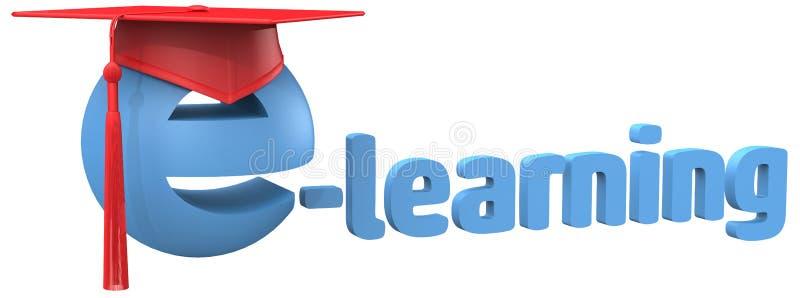 Σχολική grad ΚΑΠ λέξη εκπαίδευσης εκμάθησης Ε απεικόνιση αποθεμάτων