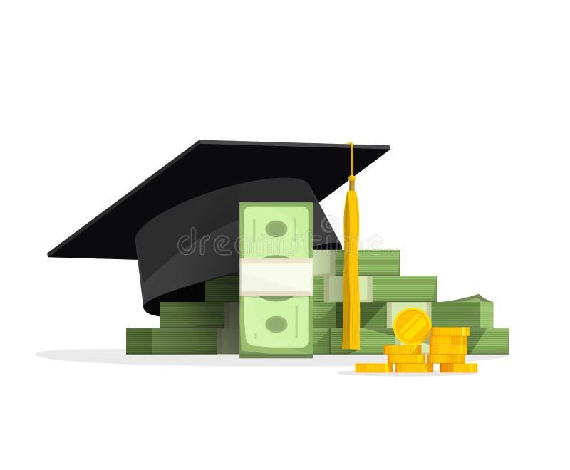 Βαθμολόγηση ΚΑΠ στο σωρό των χρημάτων, έννοια δαπανών εκπαίδευσης ελεύθερη απεικόνιση δικαιώματος