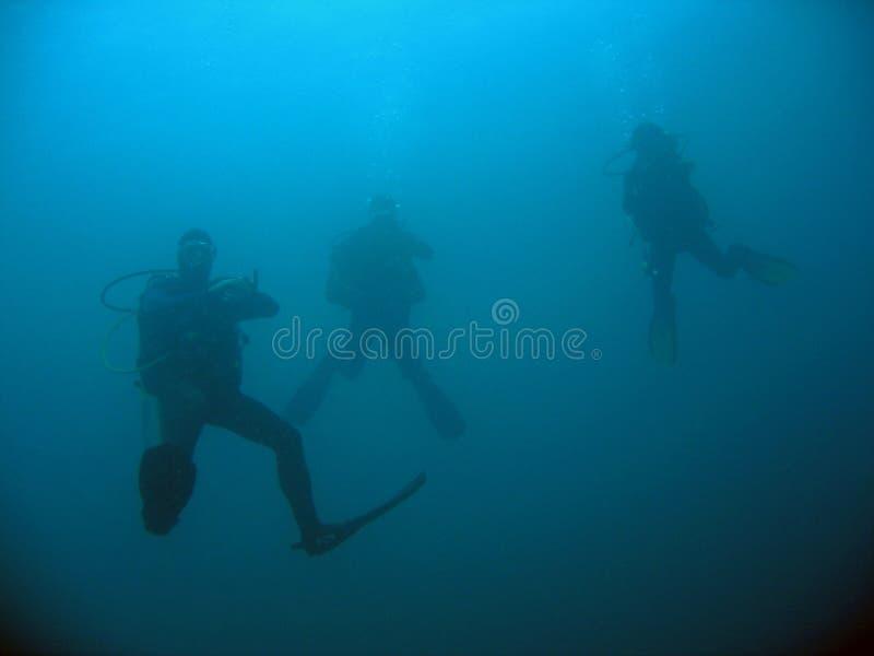 βαθύς βουτήξτε διαφορετικό σκάφανδρο τρία στοκ φωτογραφίες