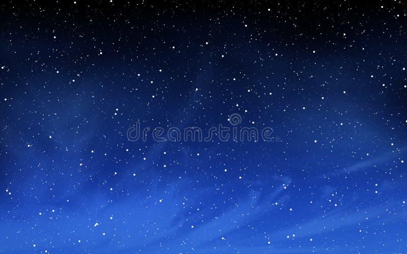 Βαθύς νυχτερινός ουρανός με πολλά αστέρια στοκ εικόνες