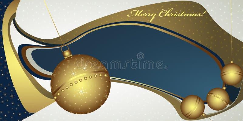 Βαθύς χαιρετισμός Χριστουγέννων με τις σφαίρες ελεύθερη απεικόνιση δικαιώματος