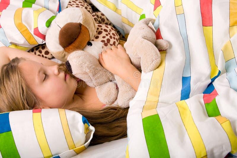 βαθύς ύπνος παιδιών στοκ φωτογραφία
