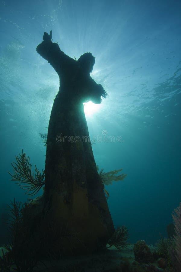 βαθύ γλυπτό Χριστού υποβρύ στοκ φωτογραφία με δικαίωμα ελεύθερης χρήσης